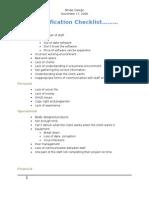 Risk Identification Checklist