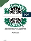 Business Environmet Audit for Starbucks (2009)