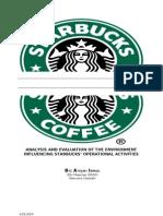 Business Environment Audit for Starbucks (2009)