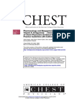 Chest Guidelines - Warfarin