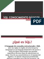 SQL CONOCIMIENTO BÁSICOS
