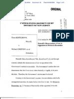 IMMIG Kestelboym v. Chertoff Plntf Opp Reconsider