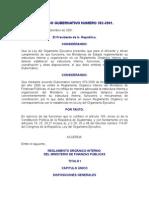 17448924 Acuerdo Gubernativo 3822001 to Organico Interno Del Ministerio de Finanzas Publicas