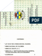 Manual de Convivencia Colegio Nacional Nicolas Febrero 2003