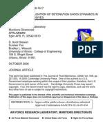 David Lambert et al- Experimental Validation of Detonation Shock Dynamics in Condensed Explosives