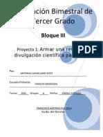 3er Grado - Bloque 3 - Proyecto 1