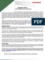 2011TN-SCORE - Eastman Internship Position