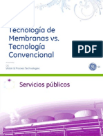 Membranes vs Conventional Technology