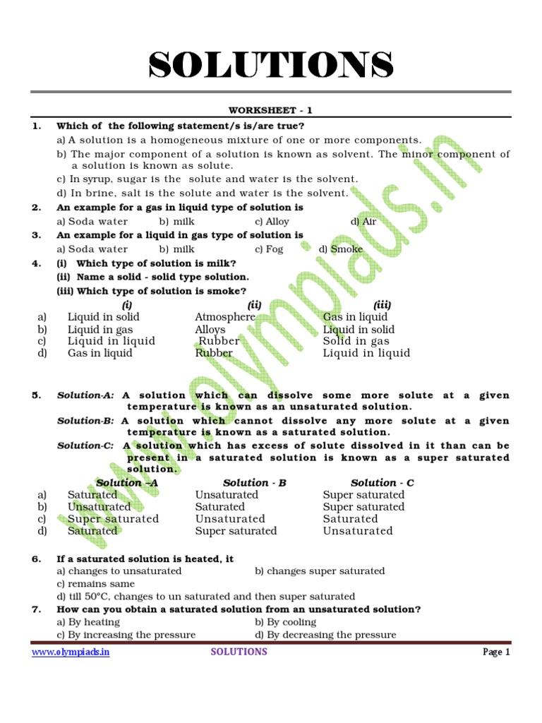 molarity molality mass percent mole fraction worksheet solution calculations worksheetmolarity. Black Bedroom Furniture Sets. Home Design Ideas