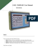 Tajima Tme-dc, Tmfd-dc User Manual