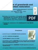 The Value of Grass Lands and Mountain Restoration