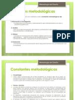 Constantes Metodologicas