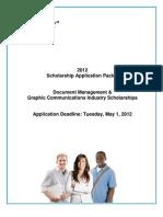 2012 EDSF Scholarship Application