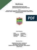 Proposal Bantuan Dana Infrastruktur