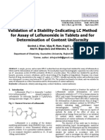Validation of a Stability-Indicating LC Method for Assay of Leflunomide in Tablets and for Determination of Content Uniformity