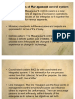 Characteristics of Management Control System