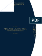 Postgraduate Law Programs 2012