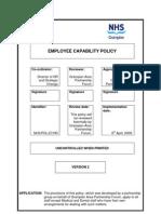 POL 27 - Employee Capability Policy - V2 - April 2009