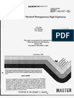 C.S. Yoo, N.C. Holmes and P.C. Souers- Detonation in Shocked Homogeneous High Explosives