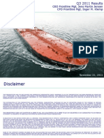 Frontline Quarterly Report Q3 2011