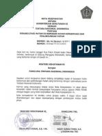 Nota Kesepakatan Anrata Mentut Dgn TNI Ttg Rehabilitasi Dan an Kawasan Konservasi