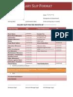 Salary Slip Format