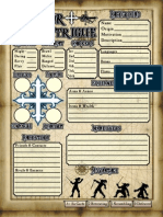Honor + Intrigue Character Sheets