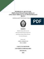 Skripsi Penerapan Akuntansi Pertanggung Jawaban