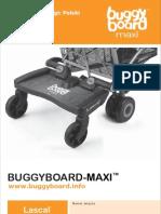 BuggyBoard Maxi Owner manual Polish