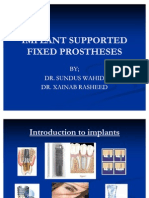 FIXED DENTAL PROSTEHSIS IMPLANT'S