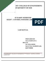 Ee2257-Control System Lab Mannual