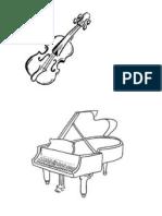 Instrumentos Musicales Para Colorear