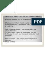 Obesity in Malaysia - Summary
