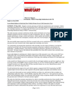 J.D. Power and Associates UK Vehicle Ownership Satisfaction Study 2011