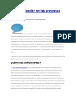 La Comunicacion en Proyectos