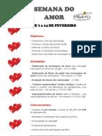 Semana do Amor - Planificação_