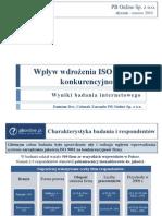 Wpływ wdrożenia ISO 9001 na konkurencyjność firmy