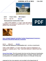 Liberty Index 2011 General Acts 1 to 134 Updated Feb 2012