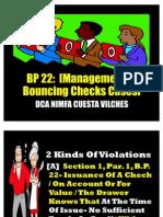 BP 22 Managing Bouncing Checks Cases