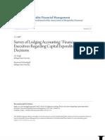 Survey of Lodging Accounting_ Finance Executives Regarding Capita