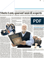 Mario Luni, quarant'anni di scoperte - Il Resto del Carlino del 2 febbraio 2012