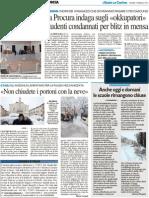 """La Procura indaga sugli """"okkupatori""""Studenti condannati pe ril blitz in mensa - Il Resto del Carlino del 3 febbraio 2012"""