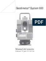 Geodimeter System 600 Manual Del Usuario