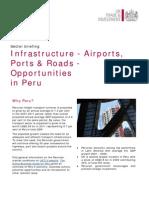 Infrastructure - Airports, Ports & Roads Sectors in Peru