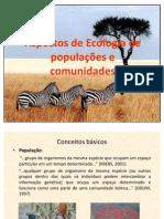 Aspectos de Ecologia de populações e comunidades