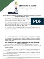 Resumen actualizado de medidas propuestas por Ignacio Garcia AEE