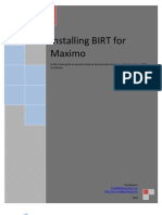Installing Birt for Maximo Part 1