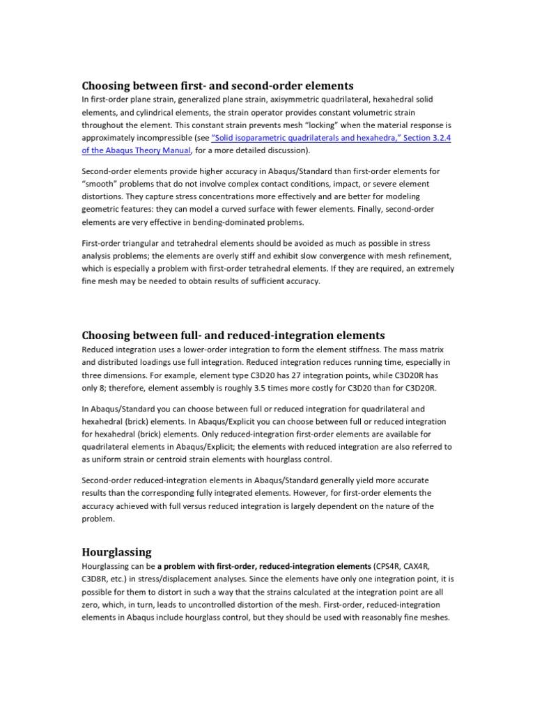 Elementtype Algemeen Deformation Mechanics Bending