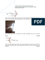 Pemantulan Cahaya Pada Cermin Cekung Dan Cembung