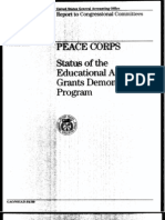 Peace Corps' portion of the Commission on National and Community Service's demonstration program.